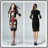 High Quality Design Women Fashion Embroider Lace Dress