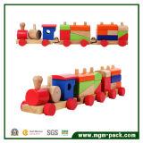 Eco-Friendly OEM Design Kids Wooden Train Set for Education