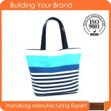Navy Design Blue Printing Canvas Shopping Tote Bag