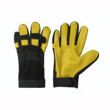 Deerskin Palm Spandex Back Mechanic Work Glove
