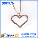 Wholesale Rose Gold Plated Crystal Heart Pendant Necklace
