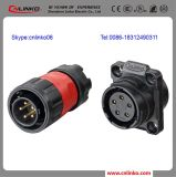 High Power Supply IP66 High Waterproof Plastic Hose Connector/5 Pin Connector
