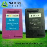 Remanufactured Ink Cartridge 302XL Bk (F6U68A) , 302XL Color (F6U69A) for HP Printer