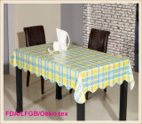 Hot Sales PVC Printed Tablecloth with Flannel Backing (TT0023-B)