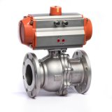 Klqd Brand Pneumatic Actuated Stainless Steel Flanged Ball Valve