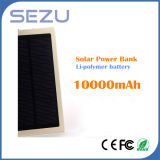 2015 High Capacity Super Slim 10000mAh Solar Power Bank