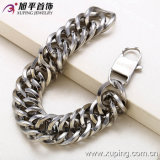 Xuping Silver Color Stainless Steel Big Size Wide Bracelet (73299)