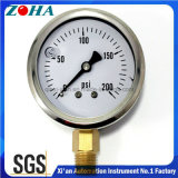 Psi Mini Gauge with Oil Filled and with Material of Ss Case