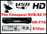 10 Dollars One PC TV Receiver FTA DVB-S2 TV Box