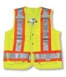 Lime Green 100% Polyester Surveyor Vest