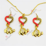 Promotion Fashion Ladies Heart Pendant Earrings Necklace Jewelry Set (ENS50827)
