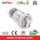 Onpow 19mm Metal Selector Switch (LAS1-AGQP-11X/21/R/12V/S, UL, CE, CCC, RoHS, REECH)