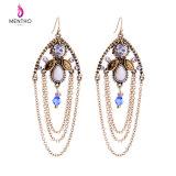 Popular Fashion Retro Diamond Studded Long Multi-Layer Alloy Women′s Earring