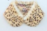 Leopard Print Fake Rabbit Fur Collar Wholesale (QYQX-F003)