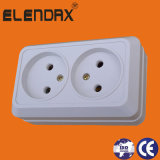 European Style Surface Mounted 2 Pin Wall Socket Outlet (S1209)