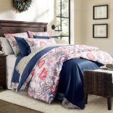 American Style Reactive Print Luxury Floral Bed Sheet Set