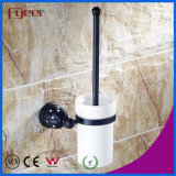 Fyeer Black Series Bathroom Accessory Brass Toilet Brush Holder