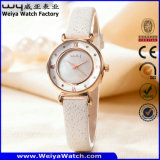 Fashion OEM/ODM Leather Strap Quartz Woman Watch (Wy-094E)