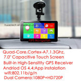 """5.0"""" Bluetooth WiFi Car GPS Navigation with Android 6.0 Tablet PC OS; 2GB DDR; 16GB Flash; FM Transmitter; AV-in Parking Camera; ISDB-T TV;"""