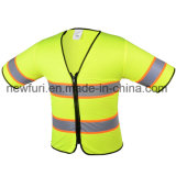 Polyester Mesh and Zip Fasten High Visibility Jacket Reflective Vest