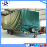 Green Color PVC Coated Tarpaulin Trailer Cover