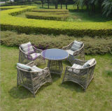Outdoor Garden Upscale Comfortable Leisure PE Rattan Table and Chair