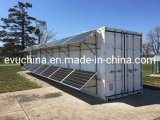 Domestic Waste Water Treatment System for Irrigation with Solar Energy