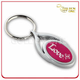 Custom Etching Spray Painting Metal Key Chain
