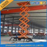 Elevated Aerial Work Platform Scissor Suspended Platform with Wheels