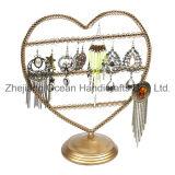 Heart Shape Wrought Iron Jewelry Display Shelf (wy-4498)