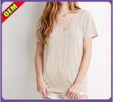 Fashion Sexy Cotton Printed T-Shirt for Women (W250)