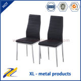 Best Selling High Back Black Leather Dining Chair