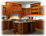 Luxurious Solid Wood Kitchen Cabinet (RWK-001)