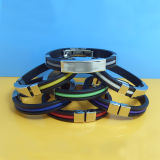Fashion Silicone Wristband with Stainless Steel Clip