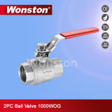 CF8m 2PC Ball Valve Light Type 1000wog