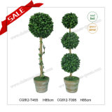Plastic Artificial Topiary Ball Tree for Indoor Home Office Hotel Decoration H85cm