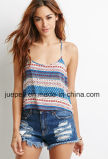 Crocheted Tribal Print Halter Top
