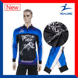 Healong Green Fully Sublimated Wholesale Fishing Shirts Sportswear with Sun-Protective