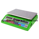 Electronic Scale with Priceing and Weighing (YQ-228 with matel case and big weighing, big LCD)