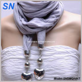Elegant Jewelry Scarf with Heart Pendant (SNSMQ1017)