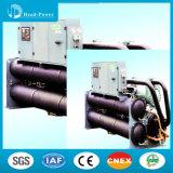 Industrial Hanbell Brand Compressor Screw Chiller Water Ground Source Heat Pump Type