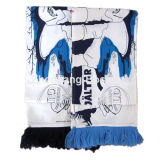 Customized Design Printed Cartoon Character Printing Cotton Fans Scarf