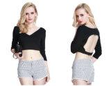 Hot Sale Special Design Backless V-Neck Blouse