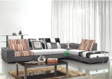 Fabric Corner Sofa with Coffee Table and Pillow (YF-D110)