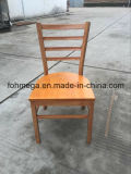 Custom Restaurant Dining Metal Chair with Wood Seat (FOH-C001)