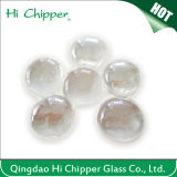 Iridescent Clear Flat Back Glass Gemstone Beads
