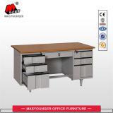 Wooden Office Metal Furniture Workstation Normal Use 6 Drawer Melamine Board Desk Table