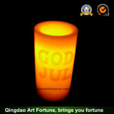 Flameless LED Wax Candle for Christmas Decor