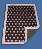 """100% Polyester Micro Mink Baby Blanket with 2"""" Border - DOT Printing (HR01BB002)"""