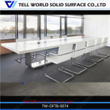 Modern Design Artificial Marble Acrylic Solid Surface Stone Corian White Conference Table Chair